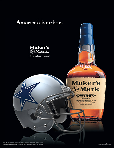 Maker s mark dallas cowboys ads wes keeton