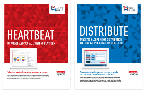Marketwired Product Brochures - Pcw Design | Peter C Wong