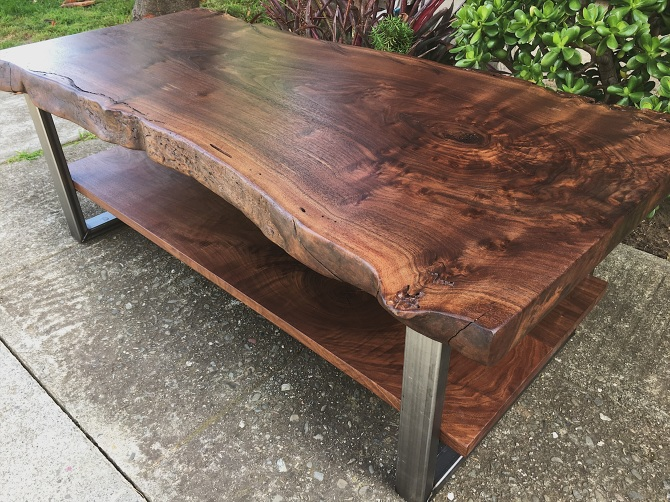 Twolevel Black Walnut Coffee Table Ambrose Woodworks - Two level coffee table
